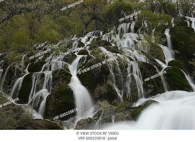 time lapse of waterfall