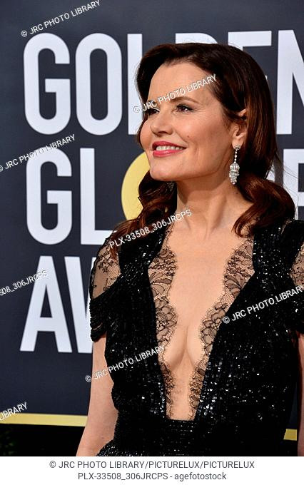 Geena Davis at the 75th Annual Golden Globe Awards at the Beverly Hilton Hotel, Beverly Hills, USA 07 Jan. 2018