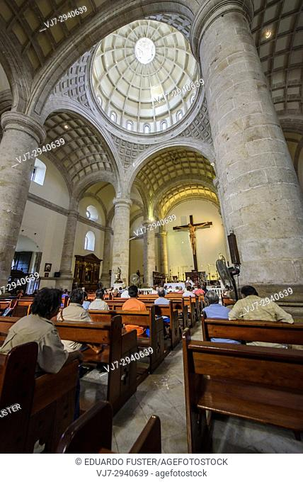 San Idelfonso cathedral, Colonial church in Merida, Yucatan (Mexico, Central America)
