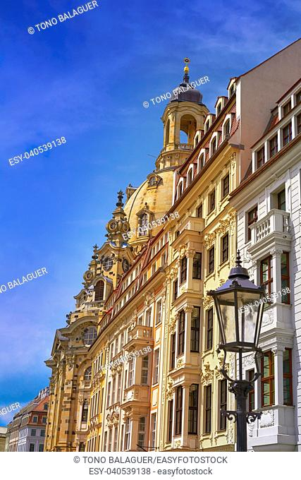 Dresden facades in Saxony of Germany