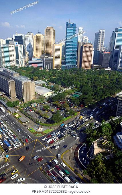 High rise buildings in the Makati District in Manila City, Philippines, Asia