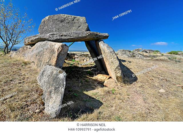 Prehistoric dolmen constructed from large blocks of granite. at Senhora do monte, northern Portugal