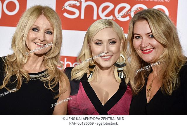 Frauke Ludowig (L-R), Hayley Hasselhoff and Anna Scholz during the Sheego fashion show by Anna Scholz as part of fashion expo Curvy is Sexy part of fashion week...