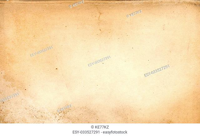Aging paper background. Natural old paper texture for the design