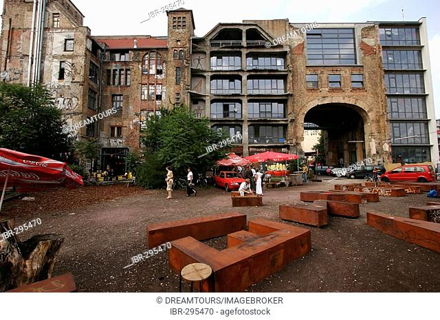 Tacheles - an alternative cultural center in the german capital Berlin Germany