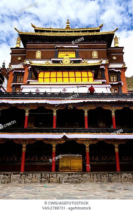 Shigatse, Tibet, China - The view of Tashilhunpo Monastery in the daytime