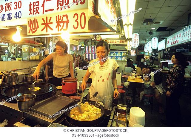 Interior of Shilin Night Market in Taipei,Taiwan also known as Formosa,Republic of China, East Asia