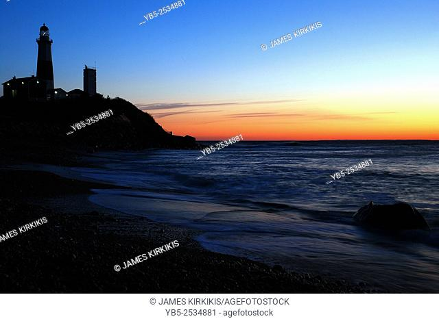 Montauk Point Lighthouse in Dawn's First Glow