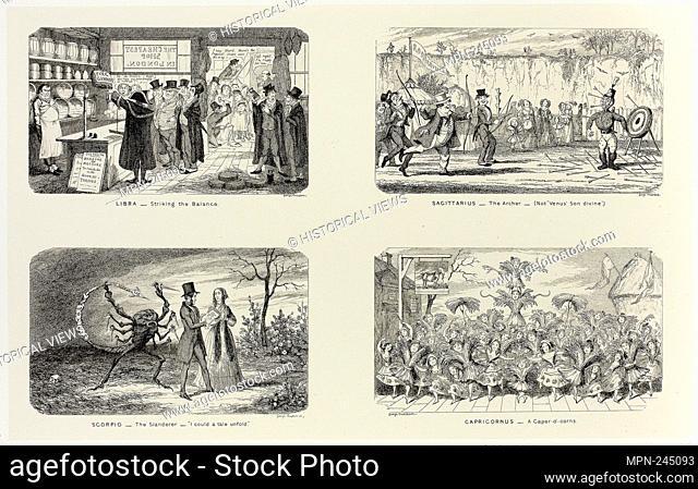 Libra - Striking the Balance from George Cruikshank's Steel Etchings to The Comic Almanacks: 1835-1853 (top left) - 1846, printed c