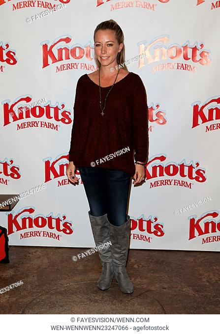 Knott's Berry Farm's Countdown To Christmas And Snoopy's Merriest Tree Lighting Featuring: Kendra Wilkinson Where: Buena Park, California