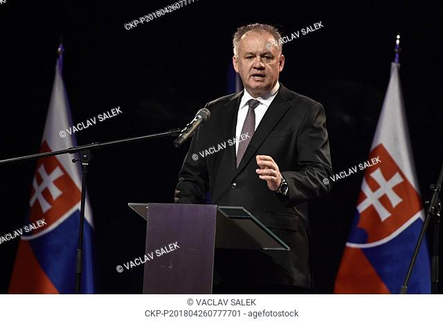 ***April 26, 2018 FILE PHOTO**** Slovak President Andrej Kiska will not be defending his post in the election scheduled for next year because he wants to spend...