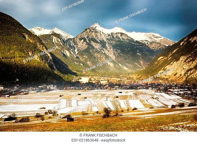 Alpine valley in Tirol, Austria