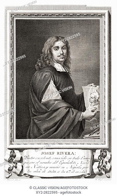 "Jusepe de Ribera, aka José de Ribera, Josep de Ribera aka Lo Spagnoletto """"the Little Spaniard"""", 1591 - 1652. Spanish Tenebrist painter and printmaker"