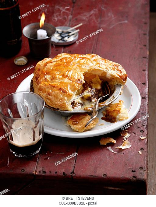 Beef and stout pie