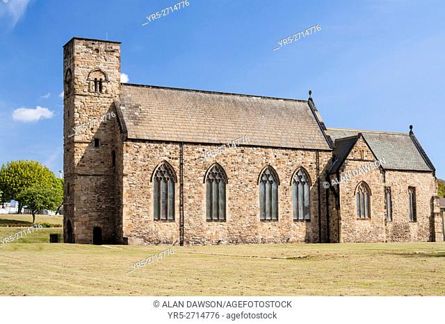 St. Peter`s church, Monkwearmouth, Sunderland, north east England, United Kingdom. One of the UK`s first stone churches