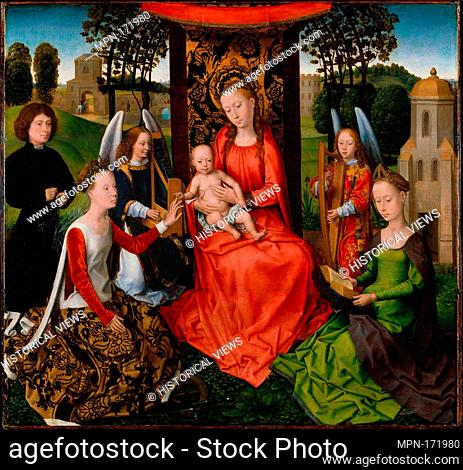 Virgin and Child with Saints Catherine of Alexandria and Barbara. Artist: Hans Memling (Netherlandish, Seligenstadt, active by 1465-died 1494 Bruges); Date:...