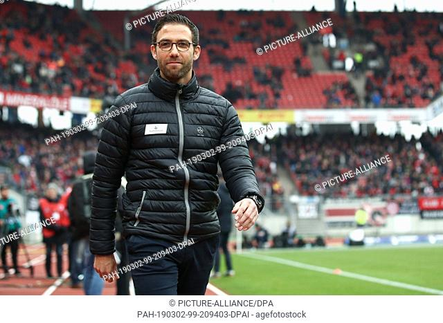 02 March 2019, Bavaria, Nürnberg: Soccer: Bundesliga, 1st FC Nuremberg - RB Leipzig, 24th matchday in Max Morlock Stadium