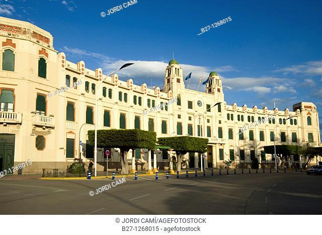 Palacio de la Asamblea  Town Hall  modernist building  Plaza de España  Melilla Spain