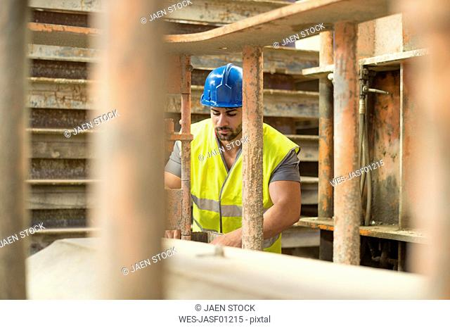Man working in construction factory