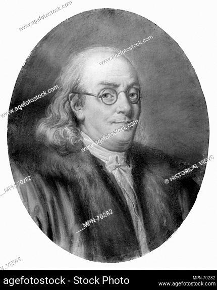 Benjamin Franklin. Artist: After Jean-Baptiste Greuze (French, Tournus 1725-1805 Paris); Date: after 1777; Geography: Made in France; Medium: Pastel on toned...