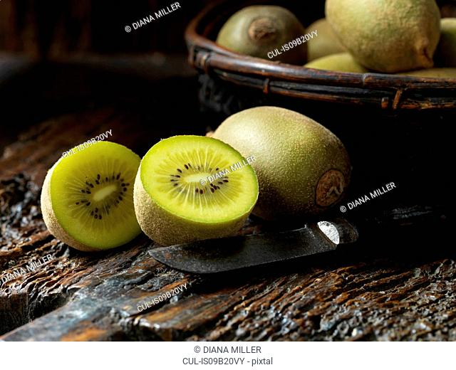 Fresh organic fruit, golden kiwi