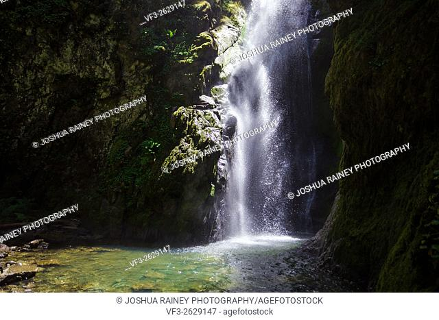 Pinard Falls is a large waterfall in the Umpqua National Forest located near Cottage Grove Oregon