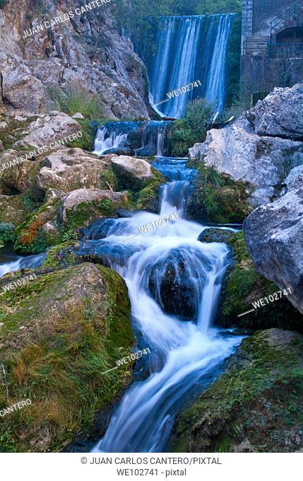 River Guadalquivir, Cerrada del Utrero in the Sierra de Cazorla, Segura y Las Villas. Jaen. Andalusia. Spain. Europe