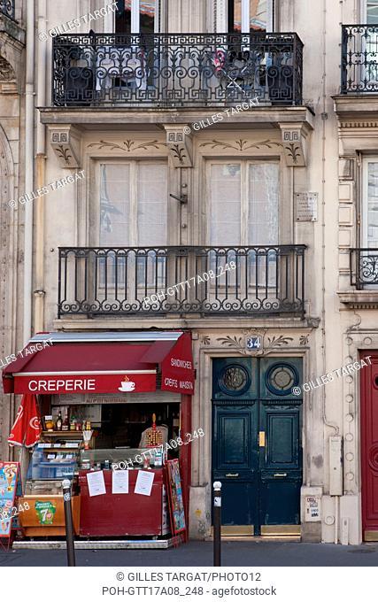 Paris, 5th arrondissement, 34 rue gay lussac, building where lived paul fort, Photo Gilles Targat