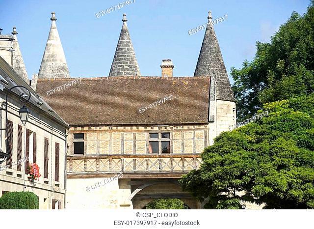 Medieval village of Longpont (Picardie)