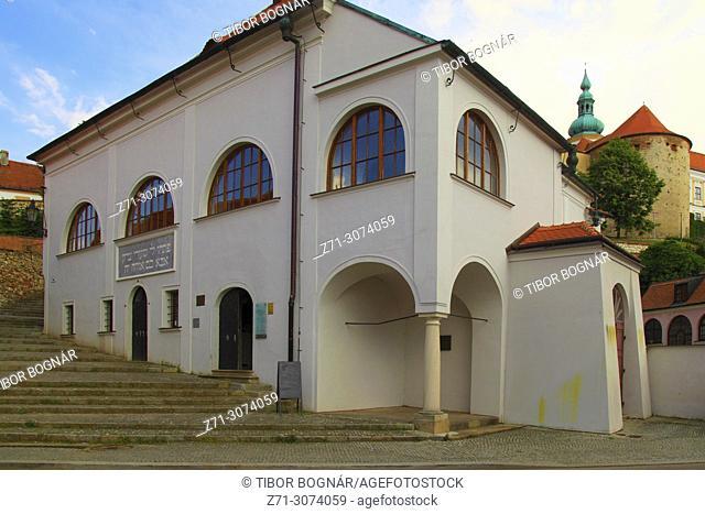 Czech Republic, Moravia, Mikulov, Synagogue,
