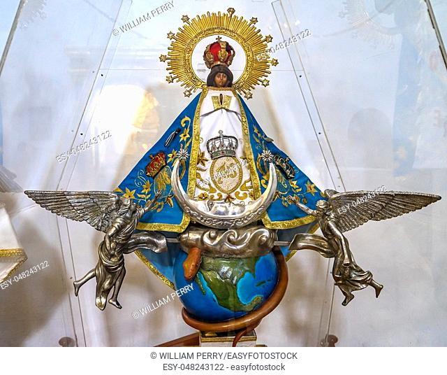 Mary Angels Moon Statue Temple Convent Carmen Alto Church Oaxaca Juarez Mexico. Started n the 1500s, finished 1751