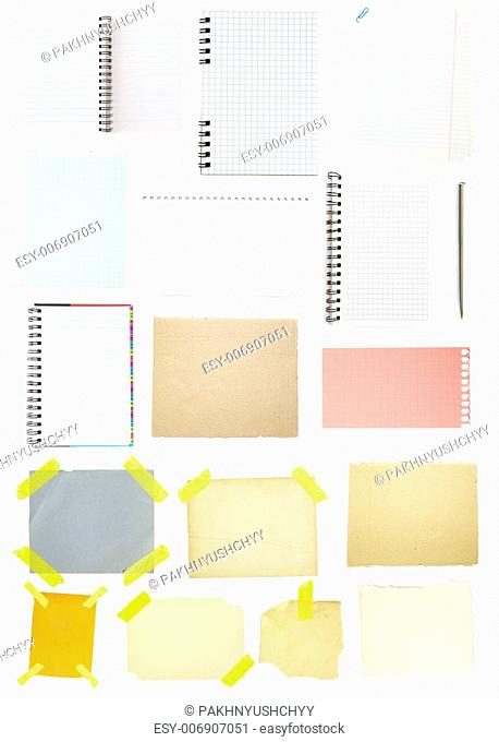 collection of old note paper