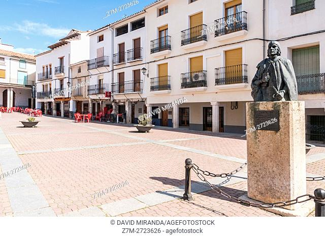 Alvaro de Luna Monument, Cañete, Cuenca province, Castile la Mancha, Spain. Historicand Artistic Heritage