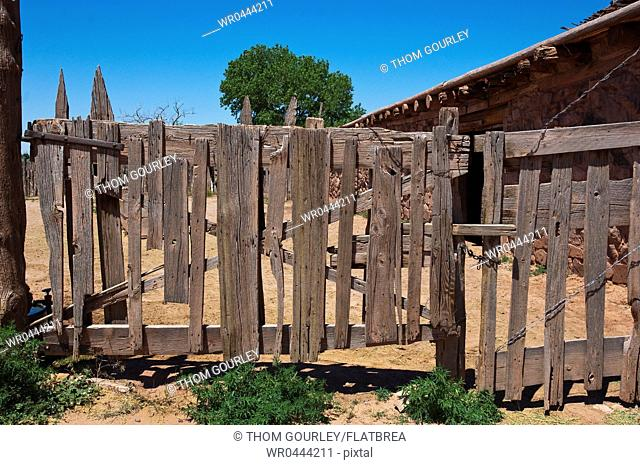 Old Wooden Fence Gate