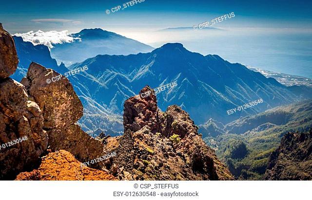 Volcanic mountains landscape