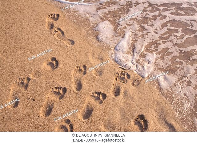 The fine sand of Phalasarna, Crete, Greece