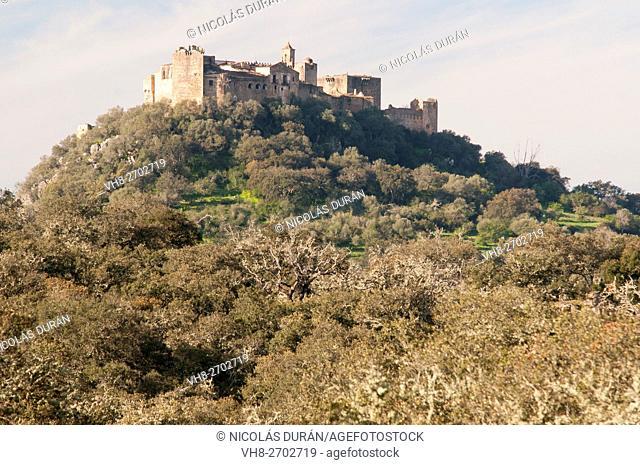 Azagala Castle, Alburquerque, Sierra de San Pedro, Badajoz province, Extremadura, Spain
