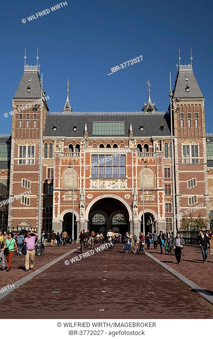 Rijksmuseum museum on Museumplein square, Amsterdam, North Holland province, Netherlands