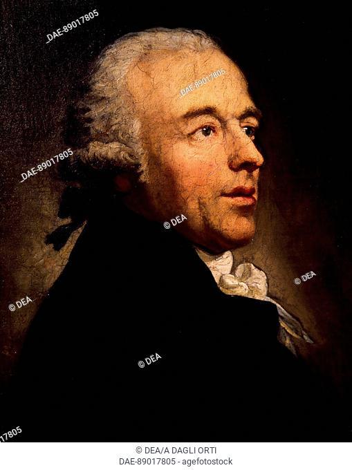 Portrait of Johann Gottlieb Naumann (Blasewitz, 1741 - Dresden, 1801), German composer.  Prague, Vila Bertramka Muzeum W.A