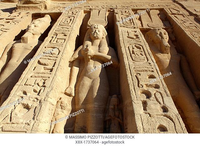 Nefertari's Temple at Abu Simbel, Aswan, Egypt