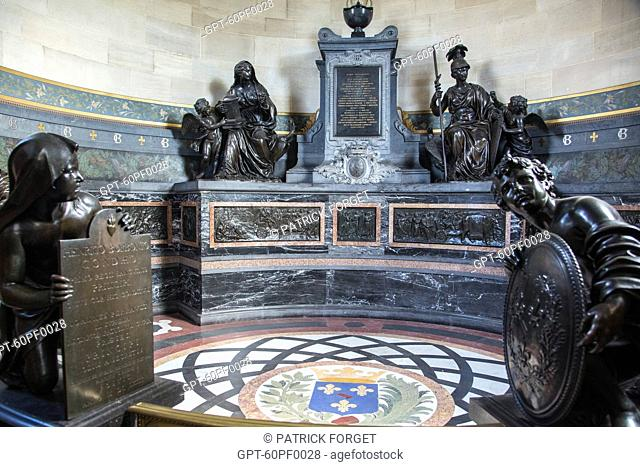 CHAPEL OF THE HEARTS OF THE CONDE PRINCES, BRONZE MONUMENT SCULPTED IN 1648 BY JACQUES SARAZIN FOR THE SAINT-PAUL CHURCH OF PARIS