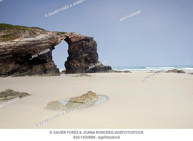 Beach of the cathedrals - Praia As Catedrais -, Ribadeo, Lugo, Galicia, Spain
