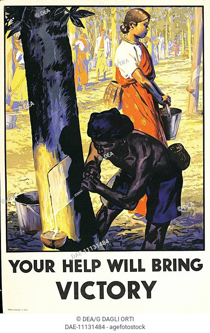 Great Britain, 20th century, Second World War - Your help will bring Victory. Propaganda poster, illustration by Nunney (-1966)