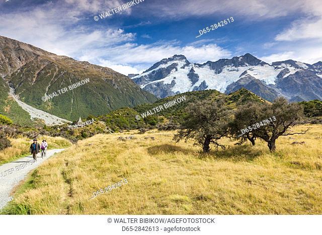 New Zealand, South Island, Canterbury, Aoraki-Mt. Cook National Park, Hooker Valley hike