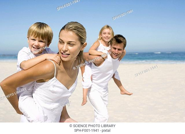 Family on holiday