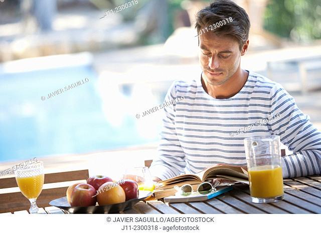 Man, breakfast