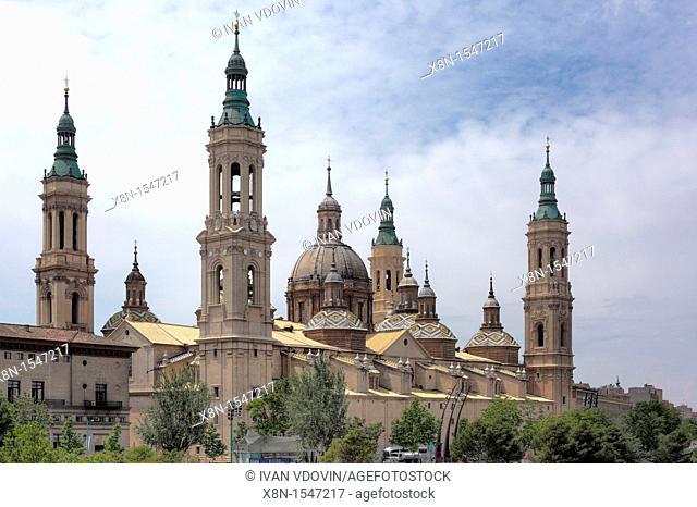 Basilica of Our Lady of the Pillar, Zaragoza, Aragon, Spain