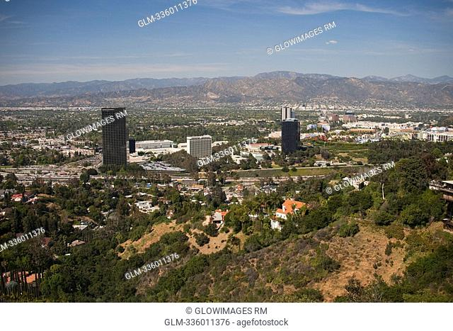 High angle view of a city, Beverly Hills, Los Angeles County, California, USA