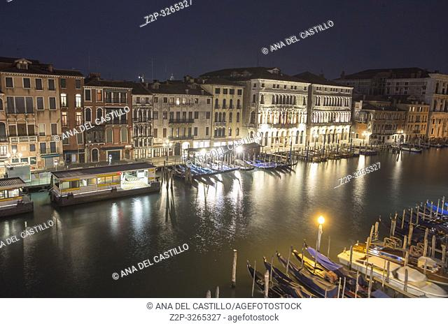 Venice, Veneto, Italy: Twilight at Grand Canal