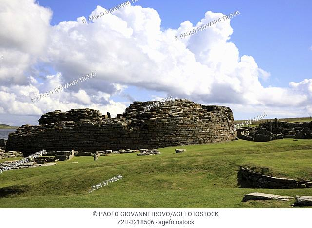 Broch of Gurness site, Orkney, Scotland, Highlands, United Kingdom